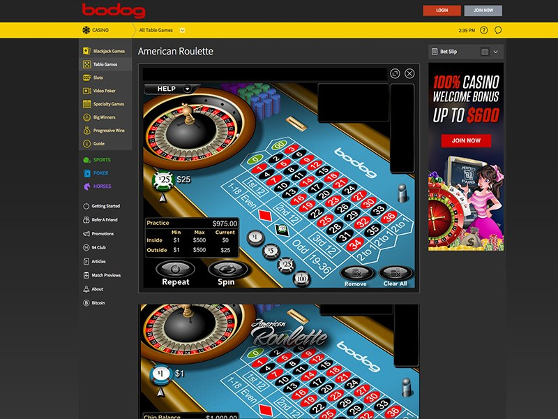 Bodog Roulette Screenshot