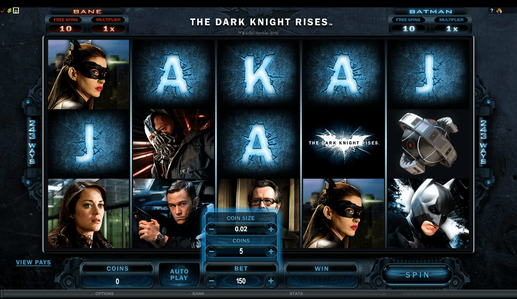 Dark Knight Slots Screenshot